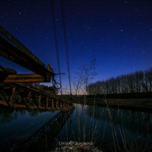 Bagger bei Nacht