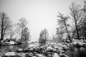 Schmutter - Winter - Schwarz-weiß | Fujifilm | X-T1 | 12mm